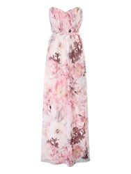 Jane Norman Floral Pleated Maxi Dress Multi Coloured