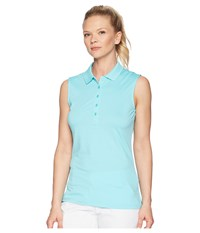 Callaway Opti Dri Micro Hex Sleeveless Polo Blue Radiance