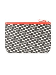 Pierre Hardy Large Perspective Cube Pouch Red