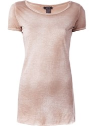Avant Toi Washed T Shirt Pink And Purple