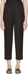 3.1 Phillip Lim Black Tailored Carrot Trousers