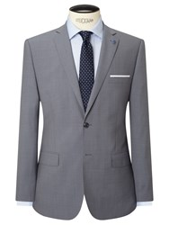 Daniel Hechter Textured Marl Tailored Fit Suit Jacket Grey