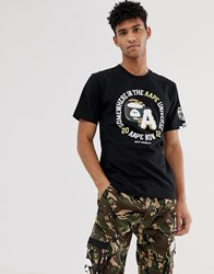 Aape By A Bathing Ape T Shirt With Camo Stamp Logo In Black