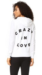 Sundry Crazy In Love Zip Hoodie White