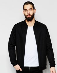 Only And Sons Textured Sweat Bomber Jacket Black