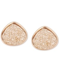 Kenneth Cole New York Druzy Stone Stud Earrings Rose Gold