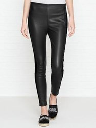 Karl Lagerfeld Tuxedo Stripe Leather Legging Black