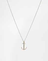 Icon Brand Necklace Anchor Necklace Gold