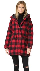 Penfield Kingman Buffalo Insulated Fishtail Parka Red
