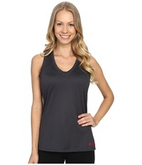 The North Face Reaxion Amp Tank Top Asphalt Grey Raspberry Rose Women's Sleeveless Black