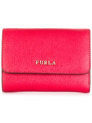 Furla Tri Fold Babylon Wallet Red