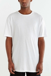 The Narrows Tie Hem Long Crew Neck Tee White