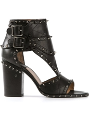 Laurence Dacade Studded Heeled Sandals Black