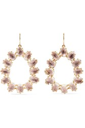 Larkspur And Hawk Caterina Small Gold Dipped Quartz Earrings One Size
