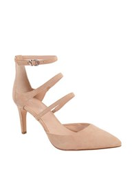 Charles By Charles David Lena Point Toe Suede Pumps Nude