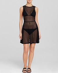 Dkny Low Back Swim Cover Up Dress Black