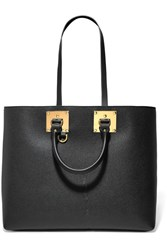 Sophie Hulme Albion Textured Leather Tote Black