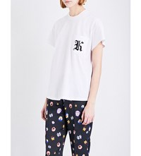 Christopher Kane Patch Applique Cotton Jersey T Shirt White