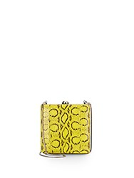 Reed Krakoff Viper Leather Trimmed Clutch Yellow