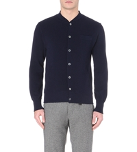 Slowear Knitted Cotton Cardigan Navy