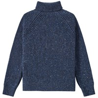 Inis Meain Boatbuilder Roll Neck Blue