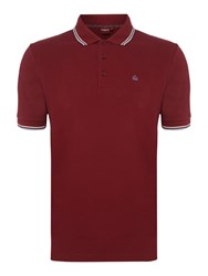 Merc Men's Card Classic Twin Tipped Polo Shirt Claret