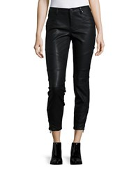 Blank Nyc Faux Leather Moto Pants Snap Queen