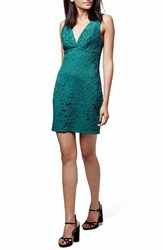 Women's Topshop Lace Body Con Dress Teal