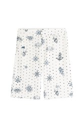 Alexander Mcqueen Printed Cotton Shorts White