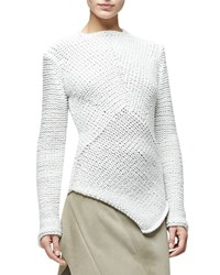 Narciso Rodriguez Asymmetric Hem Cashmere Sweater White Women's