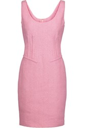 Moschino Cotton Blend Tweed Mini Dress Baby Pink