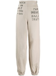 Misbhv Graphic Work Pants Neutrals