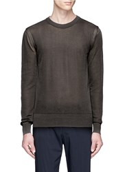 Wooyoungmi Sheer Cotton Blend Sweater Grey