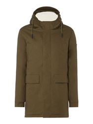 Criminal Men's Cameron Parka Coat Khaki