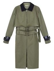 Valentino Olive Green Trench Coat
