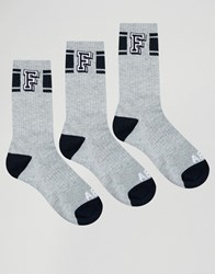 Abercrombie And Fitch 3 Pack Socks Grey