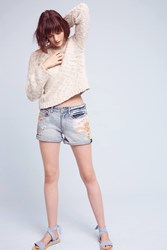 Anthropologie Pilcro Hyphen Mid Rise Shorts Denim Light