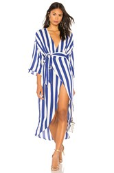 Kendall Kylie Wrap Dress Royal