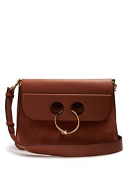 J.W.Anderson Pierce Large Leather And Suede Shoulder Bag Tan