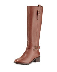 Cole Haan Kenmare Leather Riding Boot Harvest Brown Women's