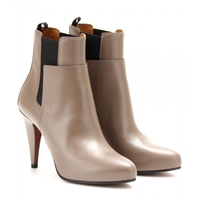 Balenciaga Leather Ankle Boots Gris Elephant