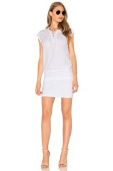 Velvet By Graham And Spencer Karmen Lace Up Mini Dress White