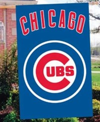 Party Animal Chicago Cubs Applique House Flag Team Color