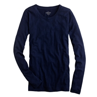 J.Crew Petite Vintage Cotton Long Sleeve Tee Navy