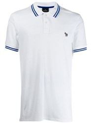 Paul Smith Ps Striped Polo Top White