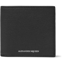 Alexander Mcqueen Full Grain Leather Billfold Wallet Black