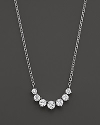 Bloomingdale's Diamond 7 Stone Necklace In 14K White Gold 2.0 Ct. T.W.