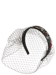 Red Valentino Embellished Leather Headband W Veil