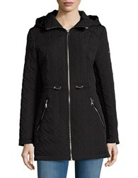 Karl Lagerfeld Hooded Quilted Coat Black