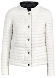 Herno Ivory Reversible Quilted Shell Jacket White And Black